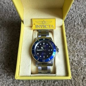 Invicta Blue Face Watch + Case